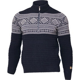 Ivanhoe of Sweden Mattis Sweater met 1/2 rits Heren, navy